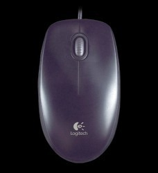 MOU Logitech Optical Mouse B100 USB fekete