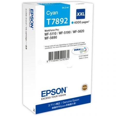 Patron Epson T7892 Cyan 4K