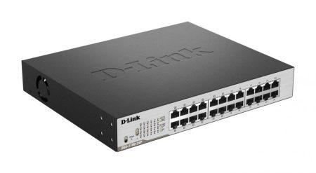 D-Link DGS-1100-24P Smart Switch 12xPoE, Fém,24xGb